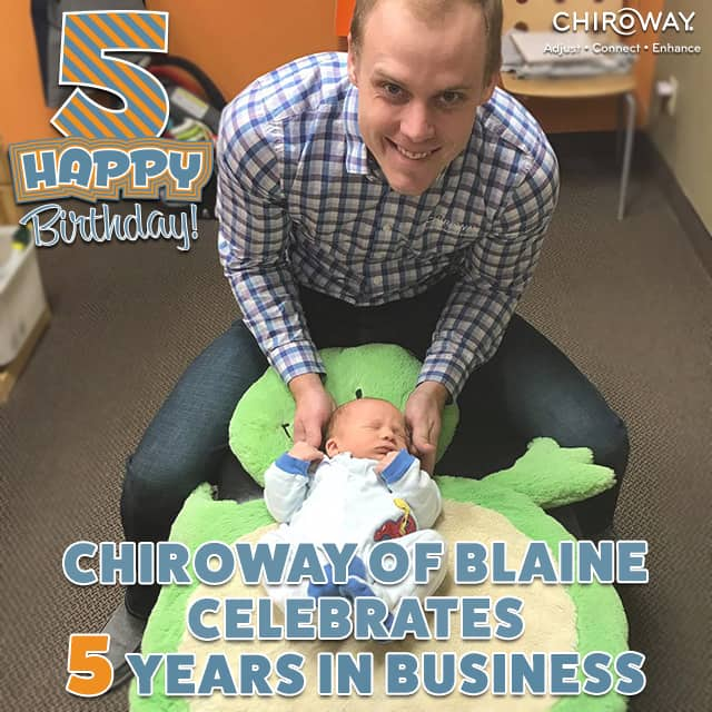 ChiroWay of Blaine celebrates 5 years in business, owner Lance Baumgard, DC