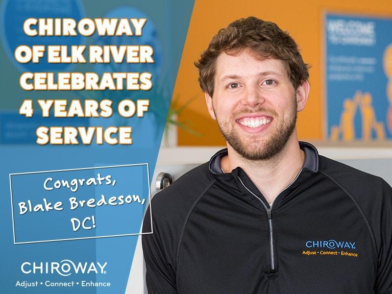 ChiroWay Elk River Celebrates 4 Years, owner Blake Bredeson, DC