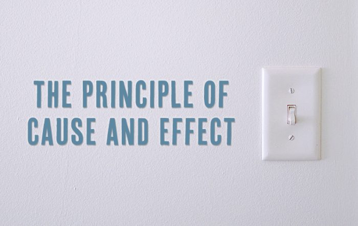 The Principle of Cause and Effect