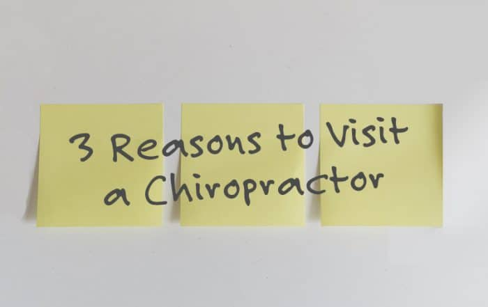 3 Reasons to Visit a Chiropractor